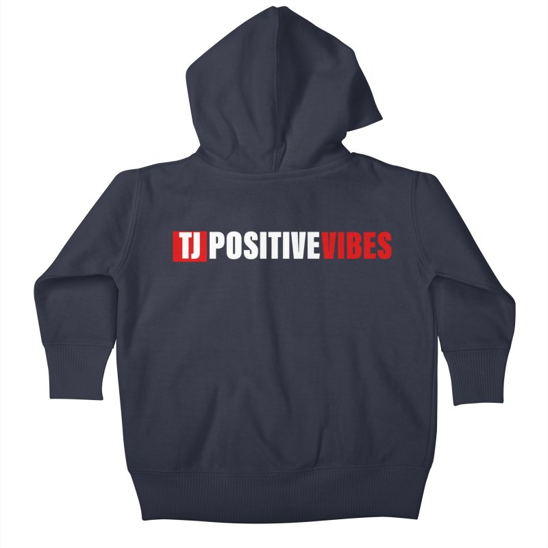 TJ Positive Vibes BOLD (Lite) Kids Baby Zip-Up Hoody by Official Track Junkee Merchandise