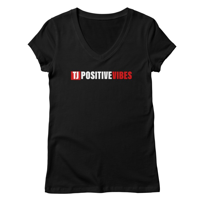 TJ Positive Vibes BOLD (Lite) Women's V-Neck by Official Track Junkee Merchandise
