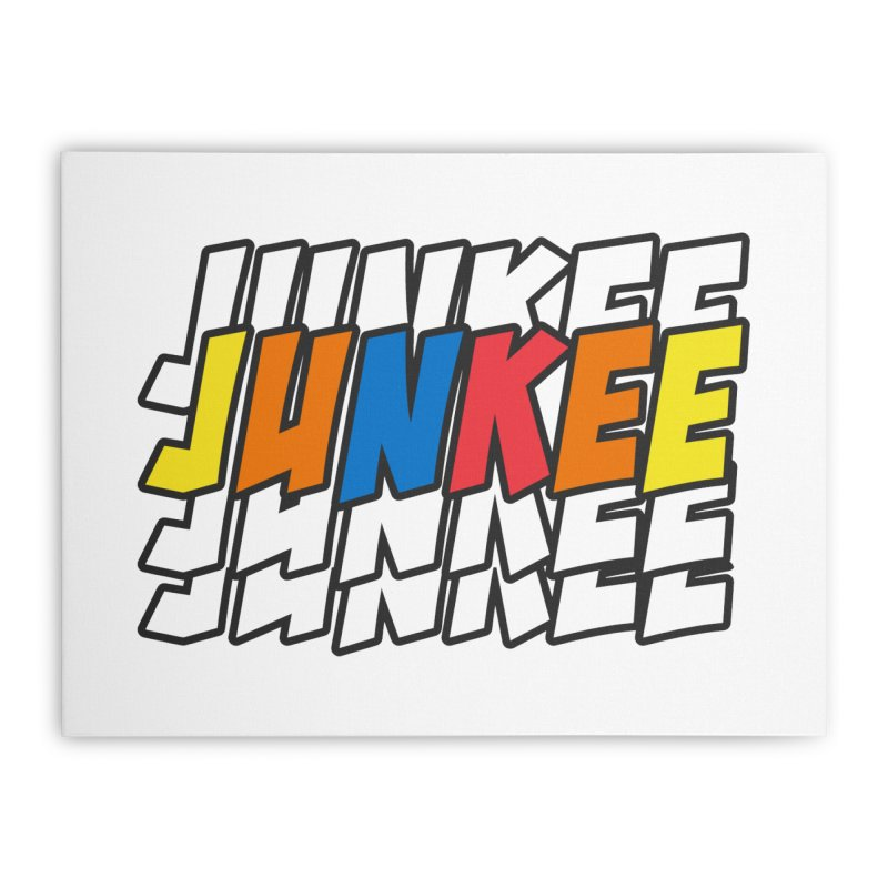 Junkee Graffiti Tee Home Stretched Canvas by Official Track Junkee Merchandise
