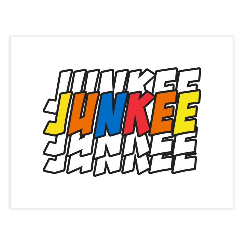 Junkee Graffiti Tee Home Fine Art Print by Official Track Junkee Merchandise