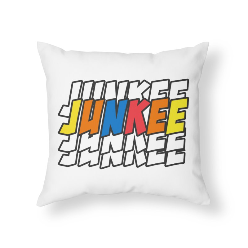 Junkee Graffiti Tee Home Throw Pillow by Official Track Junkee Merchandise
