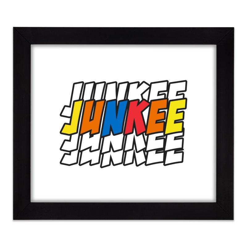 Junkee Graffiti Tee Home Framed Fine Art Print by Official Track Junkee Merchandise