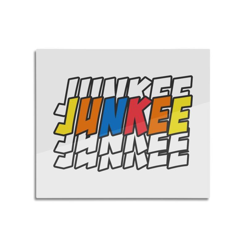 Junkee Graffiti Tee Home Mounted Aluminum Print by Official Track Junkee Merchandise