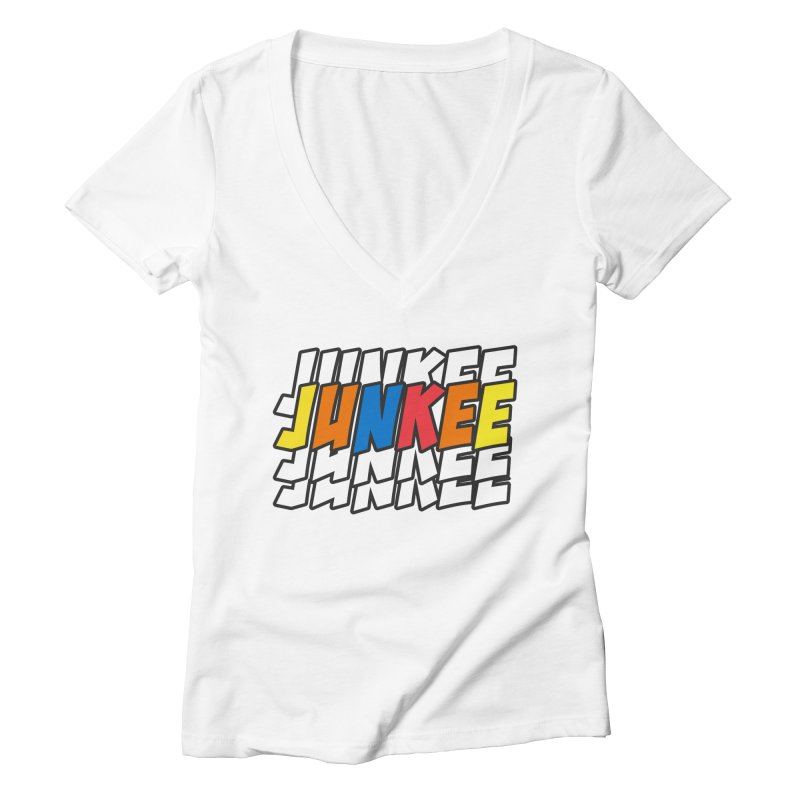 Junkee Graffiti Tee Women's V-Neck by Official Track Junkee Merchandise