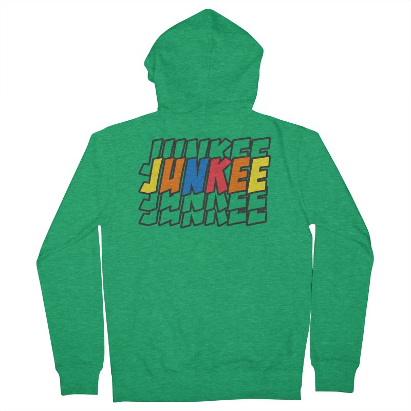 Junkee Graffiti Tee Women's Zip-Up Hoody by Official Track Junkee Merchandise
