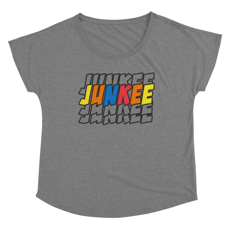 Junkee Graffiti Tee Women's Scoop Neck by Official Track Junkee Merchandise