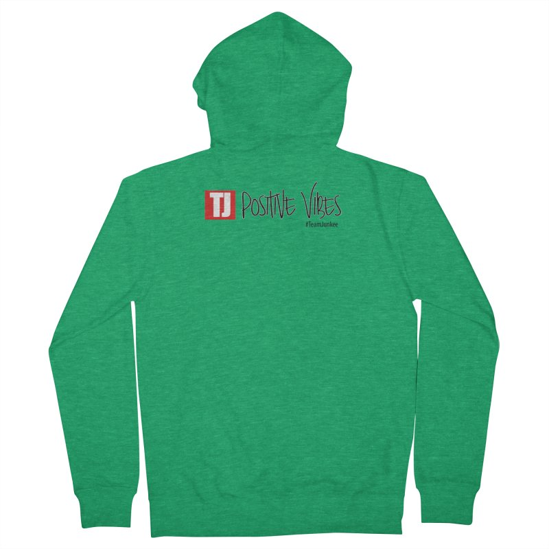 """Radiant """"Positive Vibes"""" Women's Zip-Up Hoody by Official Track Junkee Merchandise"""