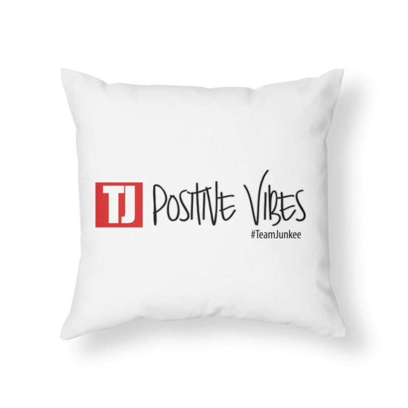 """Radiant """"Positive Vibes"""" Home Throw Pillow by Official Track Junkee Merchandise"""
