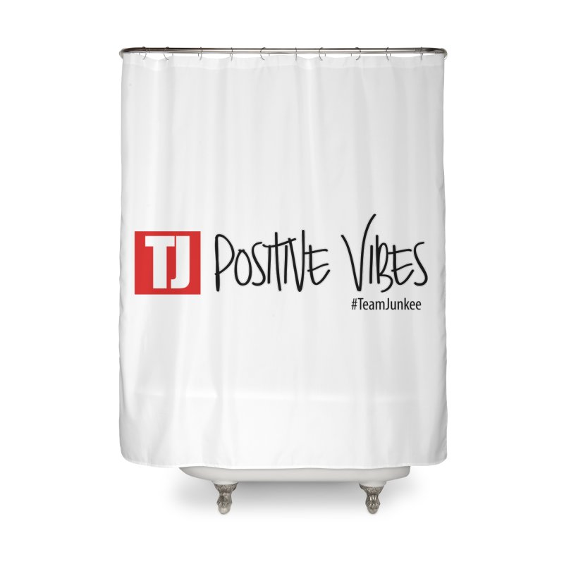"Radiant ""Positive Vibes"" Home Shower Curtain by Official Track Junkee Merchandise"