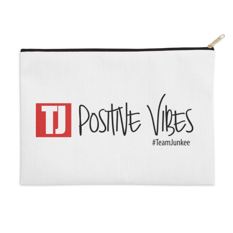 "Radiant ""Positive Vibes"" Accessories Zip Pouch by Official Track Junkee Merchandise"