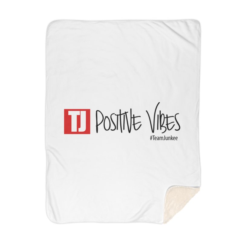"""Radiant """"Positive Vibes"""" Home Blanket by Official Track Junkee Merchandise"""