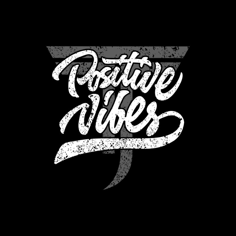 Vintage Positive Vibes (White) Accessories Bag by Official Track Junkee Merchandise