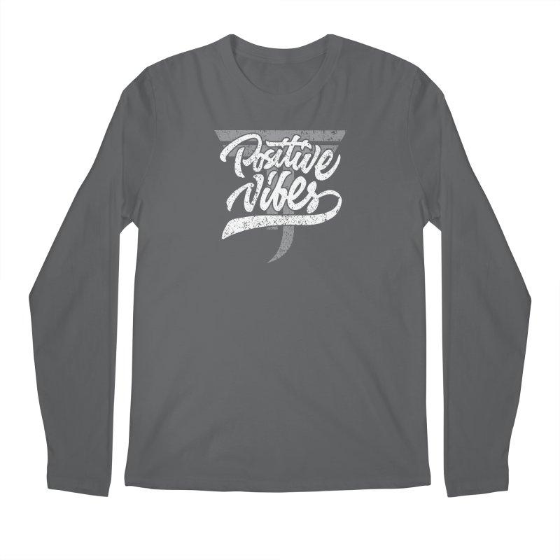 Vintage Positive Vibes (White) Men's Longsleeve T-Shirt by Official Track Junkee Merchandise