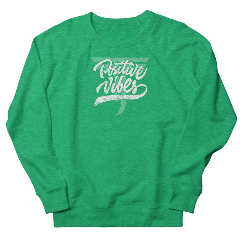 Vintage Positive Vibes (White) Women's Sweatshirt by Official Track Junkee Merchandise