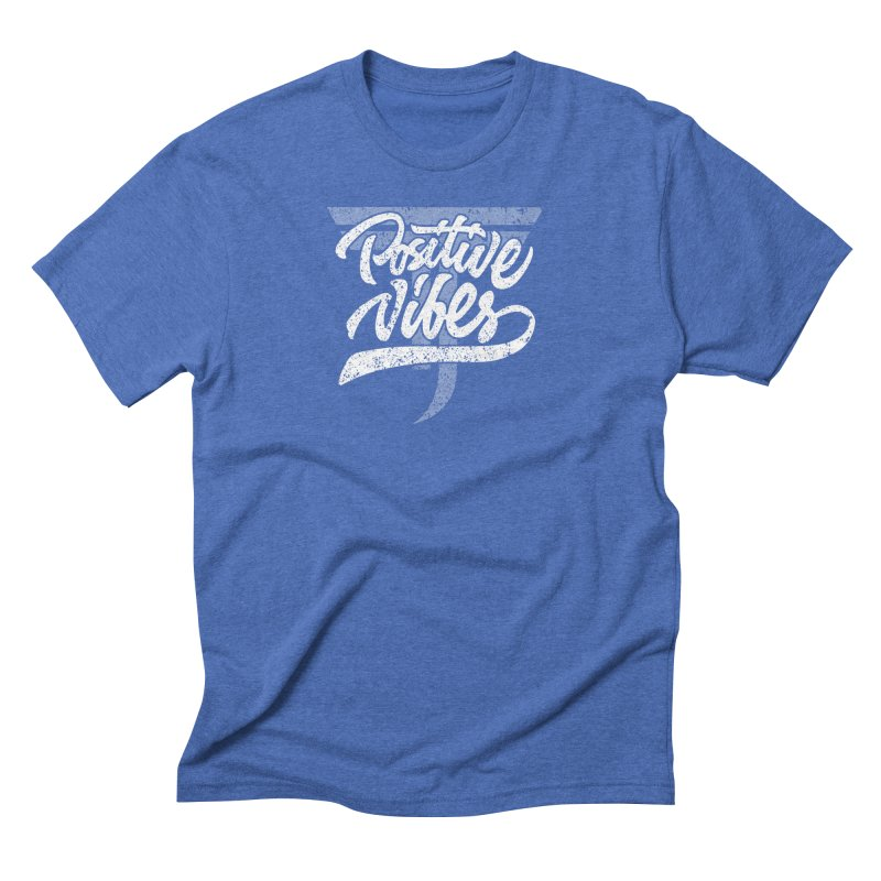 Vintage Positive Vibes (White) Men's T-Shirt by Official Track Junkee Merchandise