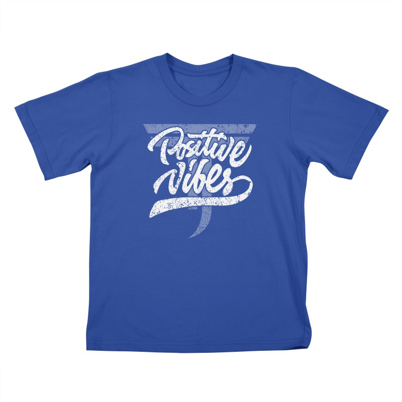 Vintage Positive Vibes (White) Kids T-Shirt by Official Track Junkee Merchandise