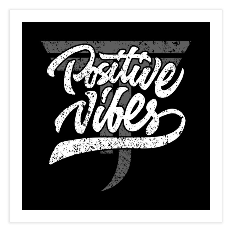 Vintage Positive Vibes (White) Home Fine Art Print by Official Track Junkee Merchandise