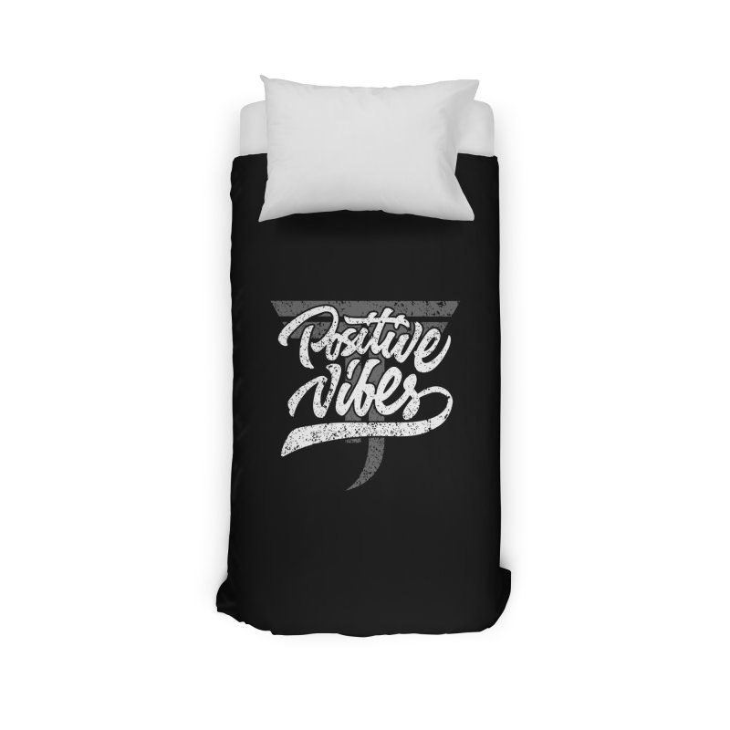 Vintage Positive Vibes (White) Home Duvet by Official Track Junkee Merchandise