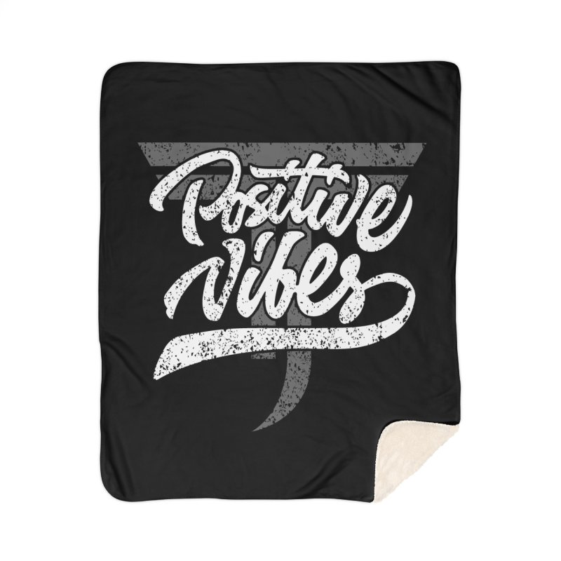 Vintage Positive Vibes (White) Home Blanket by Official Track Junkee Merchandise