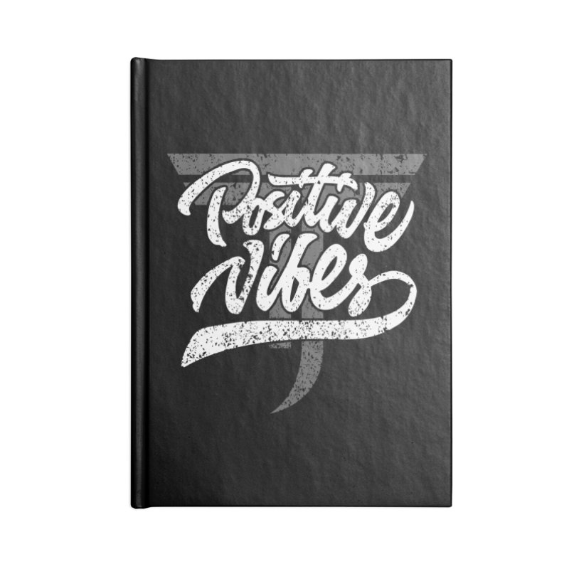 Vintage Positive Vibes (White) Accessories Notebook by Official Track Junkee Merchandise