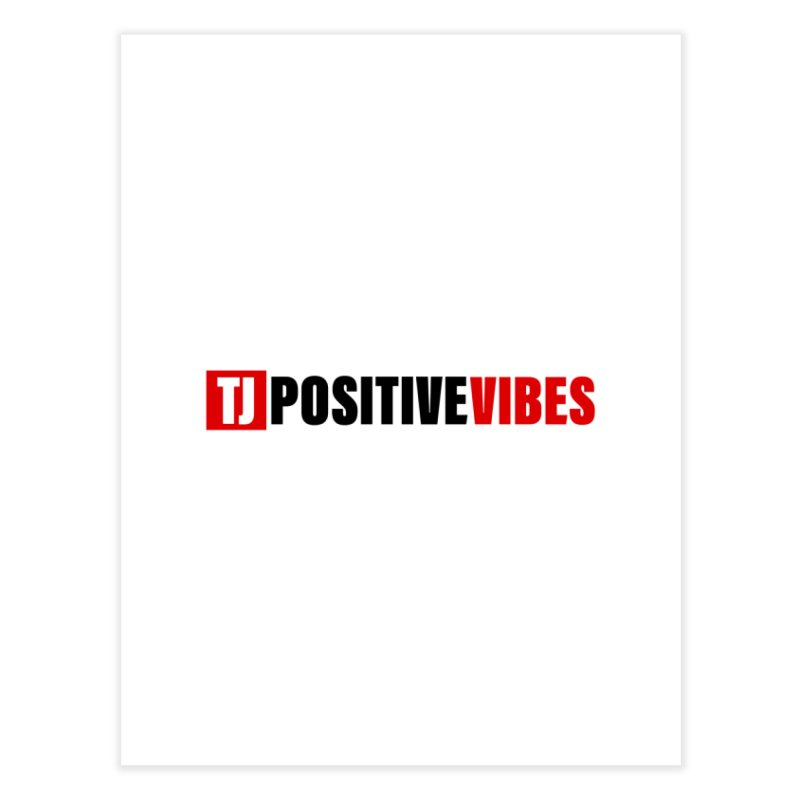 Positive Vibrations Home Fine Art Print by Official Track Junkee Merchandise