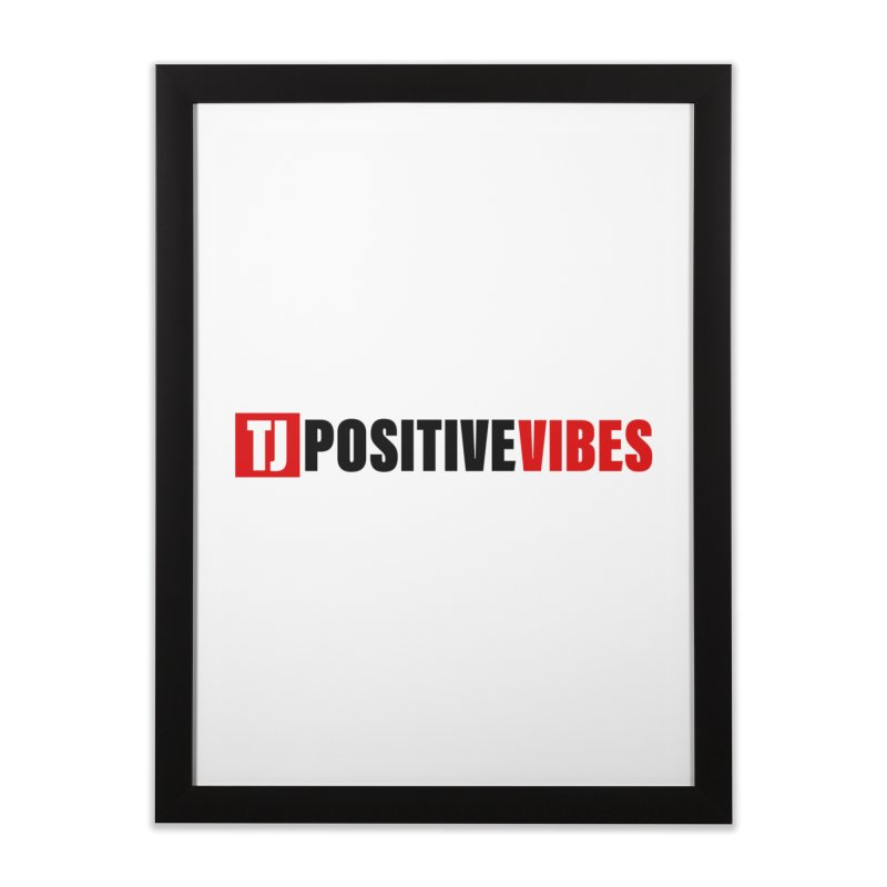 Positive Vibrations Home Framed Fine Art Print by Official Track Junkee Merchandise
