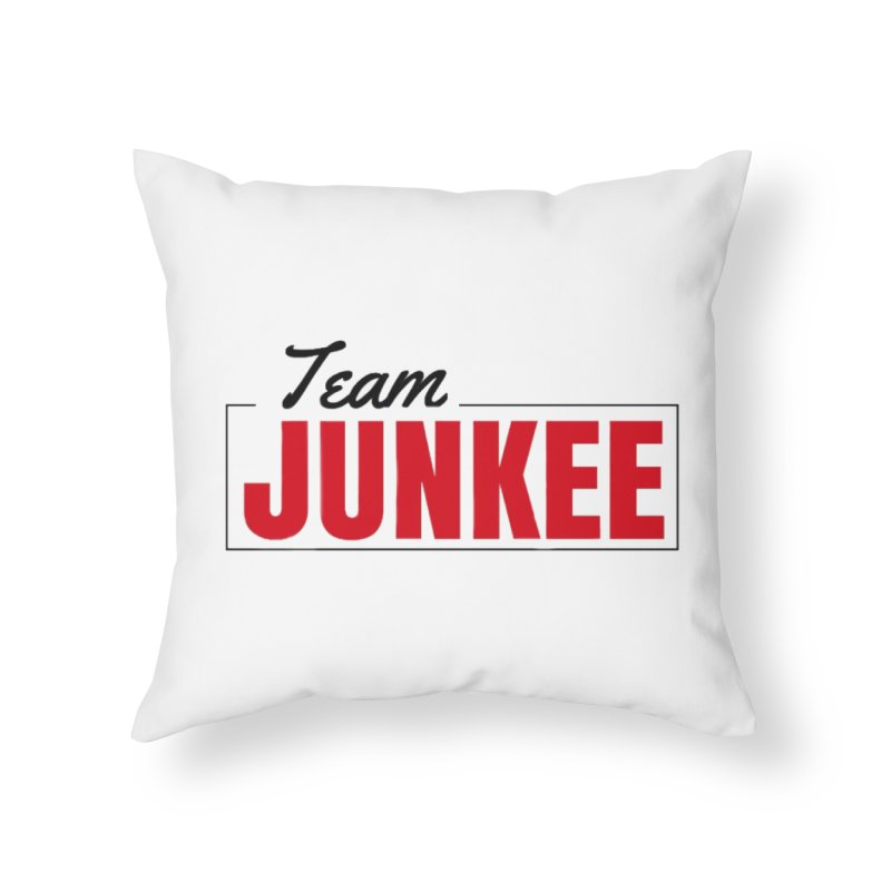 The TEAM Home Throw Pillow by Official Track Junkee Merchandise