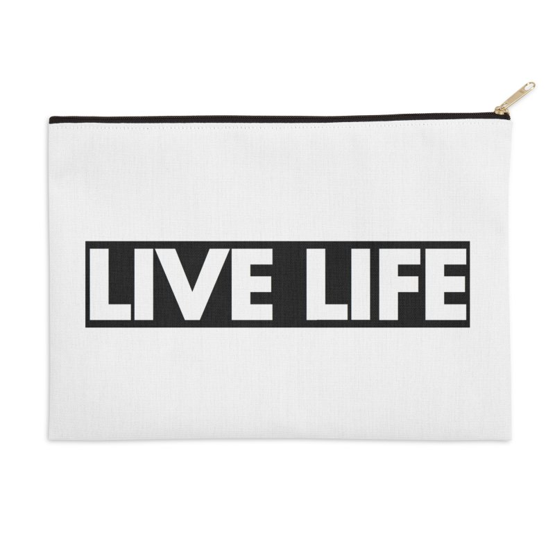 Live Life *Special Edition** Accessories Zip Pouch by Official Track Junkee Merchandise