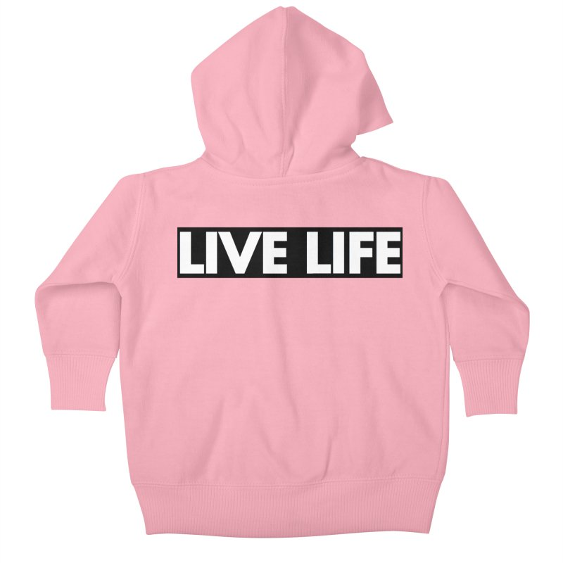 Live Life *Special Edition** Kids Baby Zip-Up Hoody by Official Track Junkee Merchandise