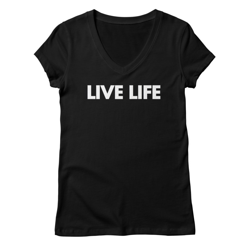 Live Life *Special Edition** Women's V-Neck by Official Track Junkee Merchandise
