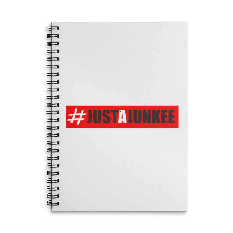 """""""Just A Junkee""""  Limited Edition Accessories Notebook by Official Track Junkee Merchandise"""