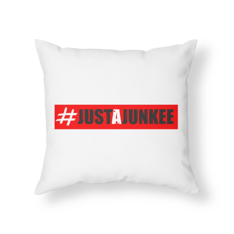 """Just A Junkee""  Limited Edition Home Throw Pillow by Official Track Junkee Merchandise"
