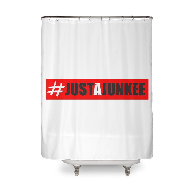 """Just A Junkee""  Limited Edition Home Shower Curtain by Official Track Junkee Merchandise"