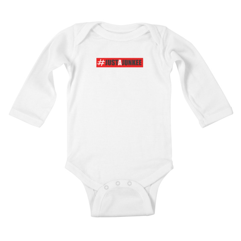 """""""Just A Junkee""""  Limited Edition Kids Baby Longsleeve Bodysuit by Official Track Junkee Merchandise"""