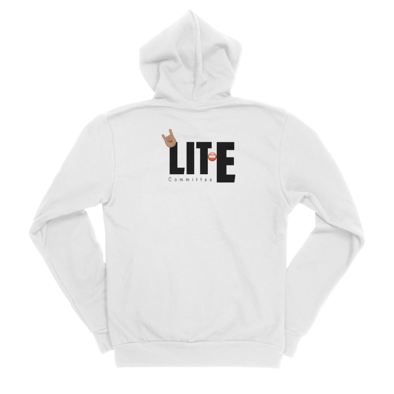 Lit-Tee Committee WHITE Men's Zip-Up Hoody by Official Track Junkee Merchandise