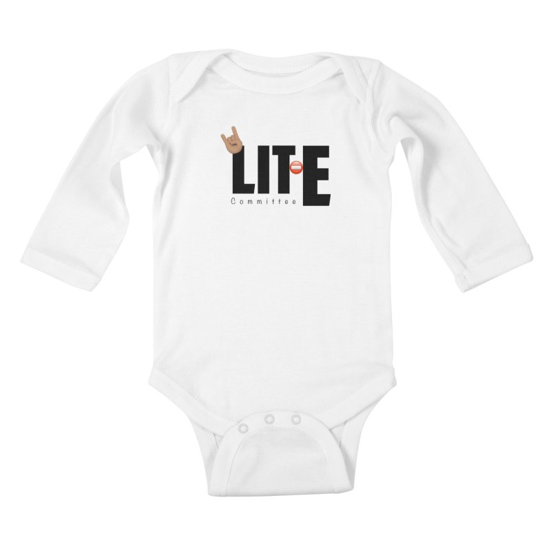 Lit-Tee Committee WHITE Kids Baby Longsleeve Bodysuit by Official Track Junkee Merchandise