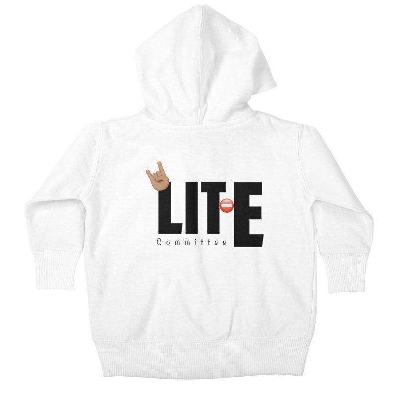Lit-Tee Committee WHITE Kids Baby Zip-Up Hoody by Official Track Junkee Merchandise