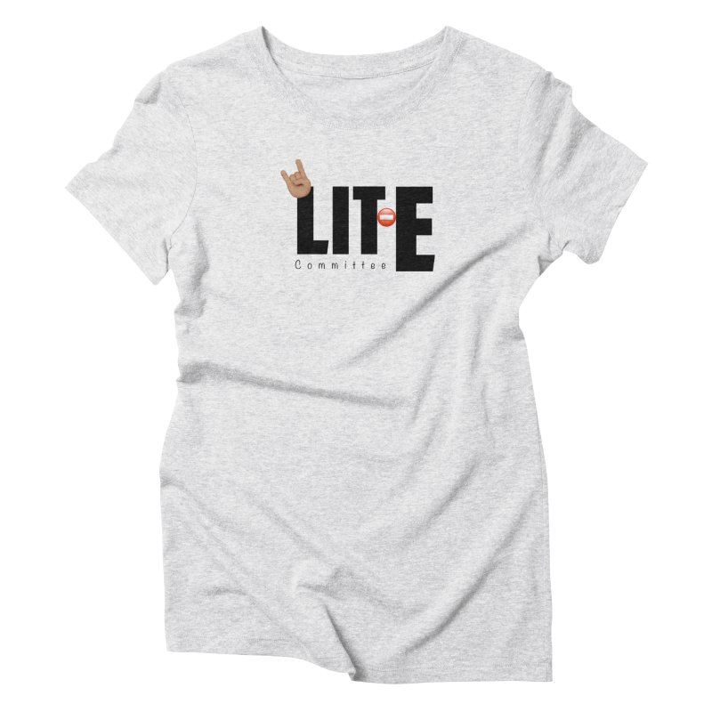 Lit-Tee Committee WHITE Women's T-Shirt by Official Track Junkee Merchandise