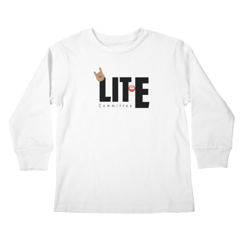 Lit-Tee Committee WHITE Kids Longsleeve T-Shirt by Official Track Junkee Merchandise