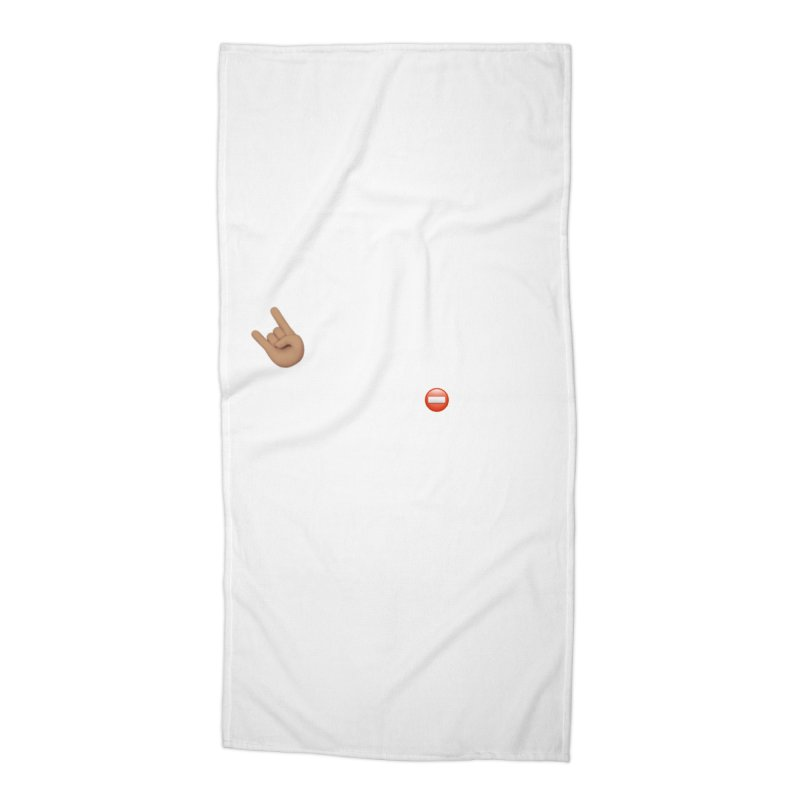 Lit-Tee Committee White Accessories Beach Towel by Official Track Junkee Merchandise