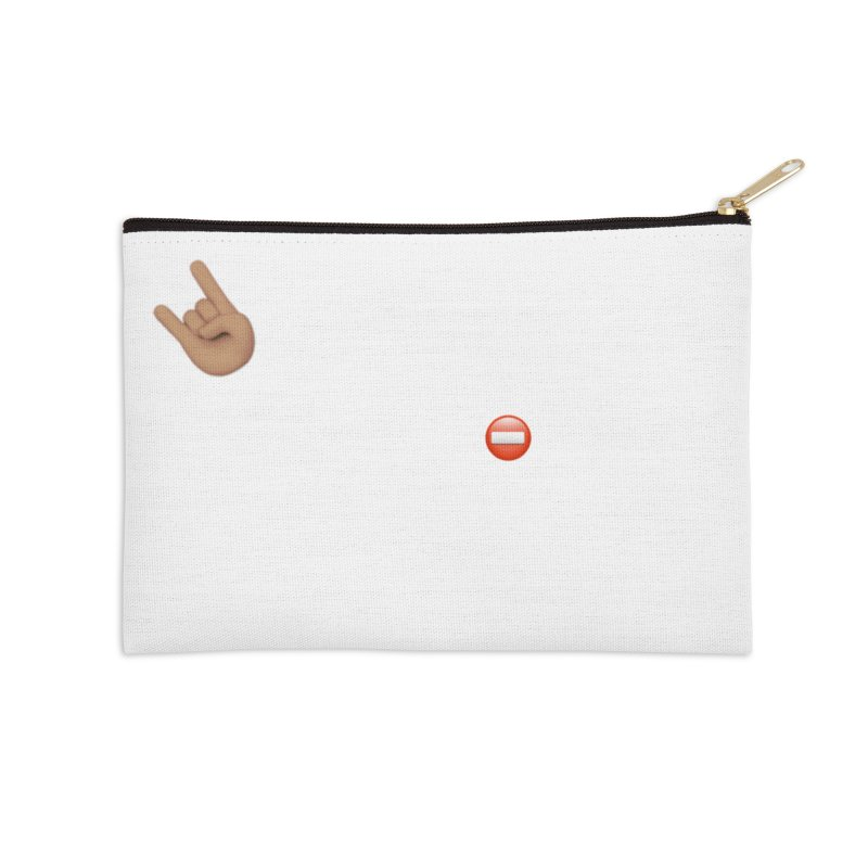 Lit-Tee Committee White Accessories Zip Pouch by Official Track Junkee Merchandise
