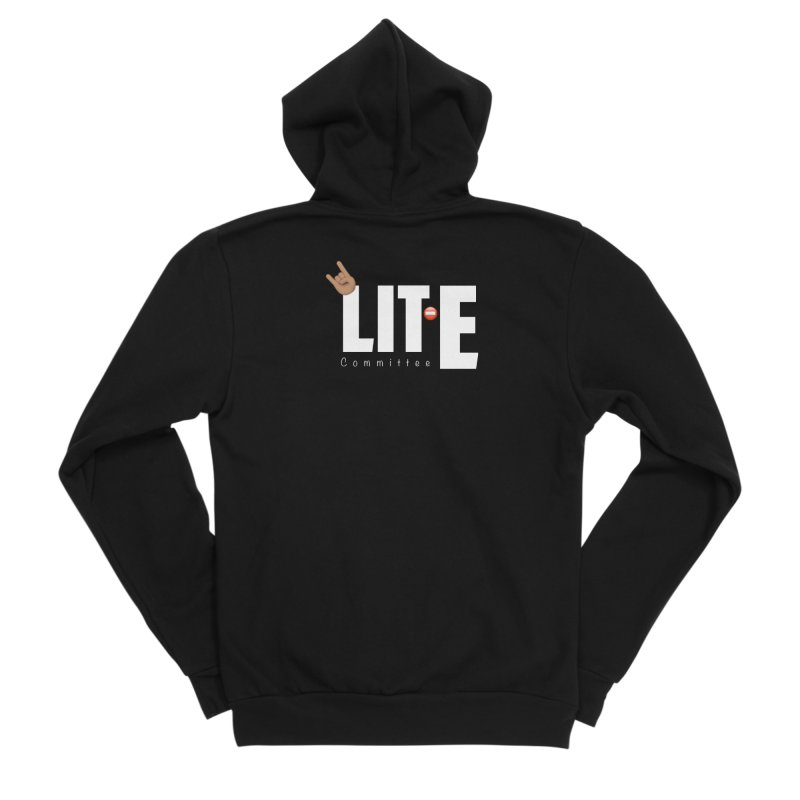 Lit-Tee Committee White Women's Zip-Up Hoody by Official Track Junkee Merchandise