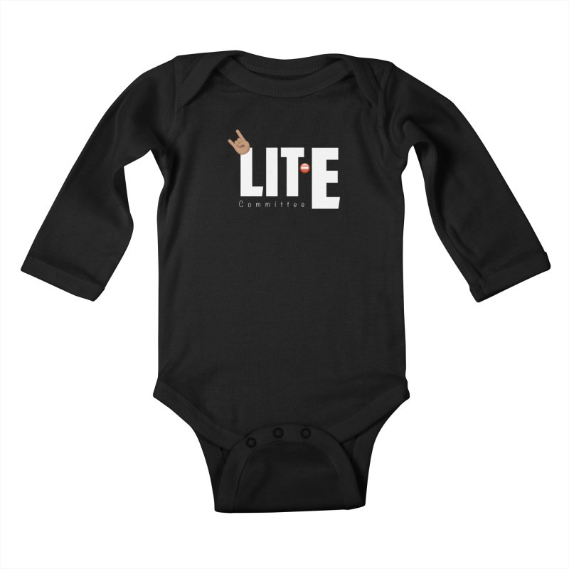 Lit-Tee Committee White Kids Baby Longsleeve Bodysuit by Official Track Junkee Merchandise