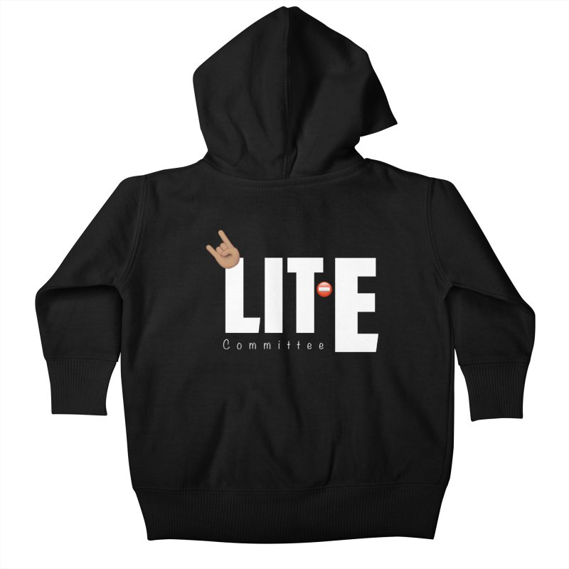 Lit-Tee Committee White Kids Baby Zip-Up Hoody by Official Track Junkee Merchandise