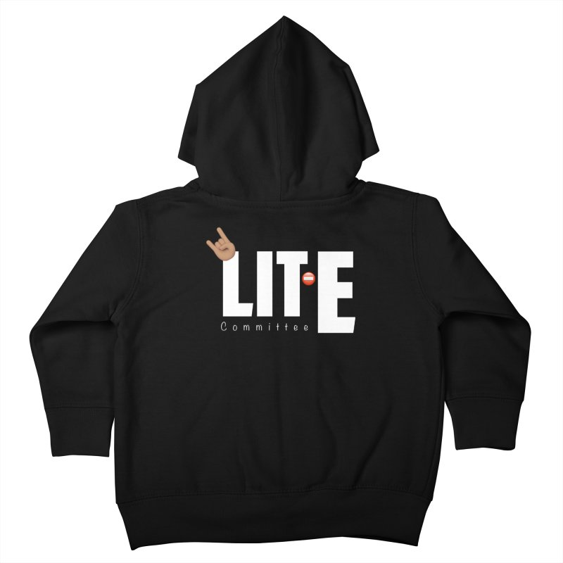 Lit-Tee Committee White Kids Toddler Zip-Up Hoody by Official Track Junkee Merchandise