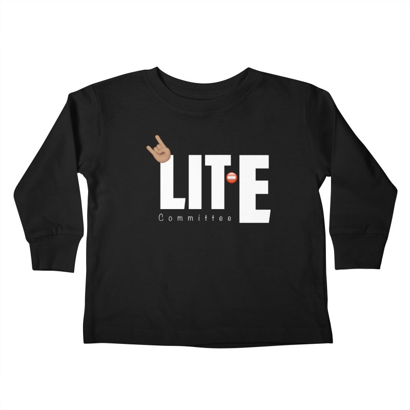 Lit-Tee Committee White Kids Toddler Longsleeve T-Shirt by Official Track Junkee Merchandise