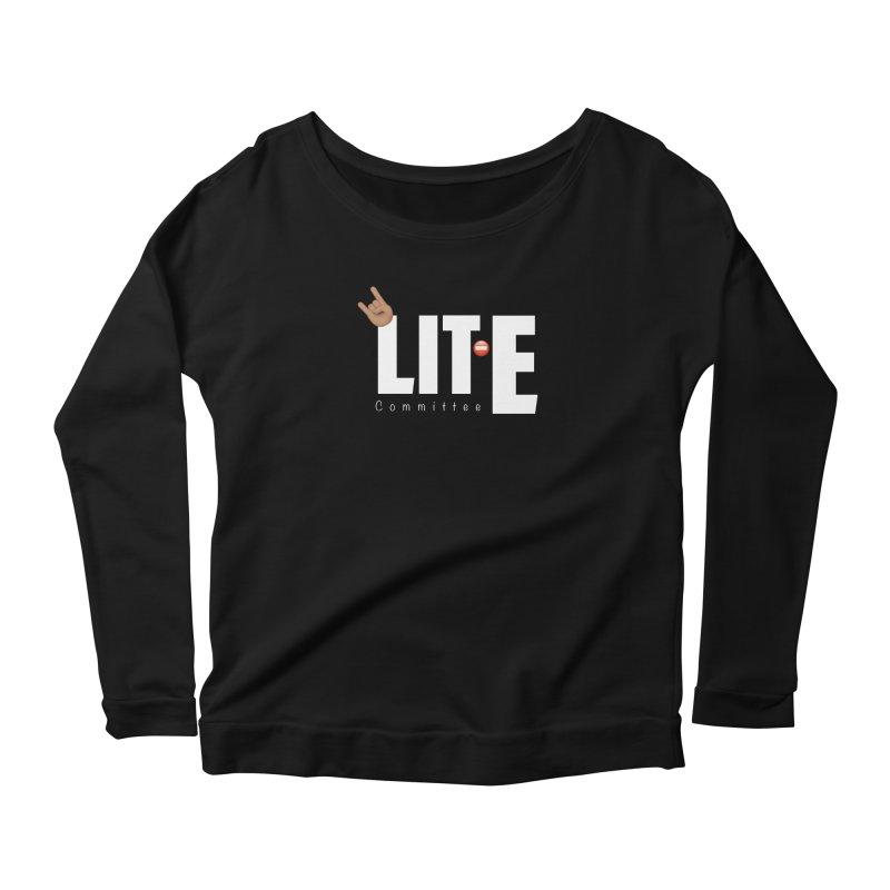 Lit-Tee Committee White Women's Longsleeve T-Shirt by Official Track Junkee Merchandise