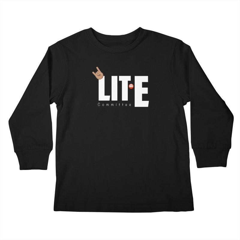 Lit-Tee Committee White Kids Longsleeve T-Shirt by Official Track Junkee Merchandise
