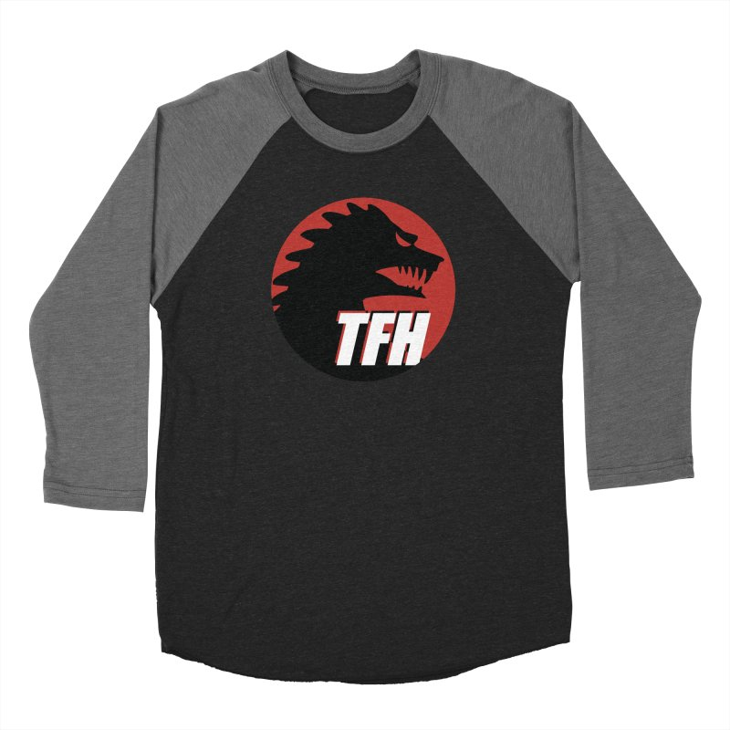 TFH BIG Logo Women's Baseball Triblend Longsleeve T-Shirt by TRAILERS FROM HELL