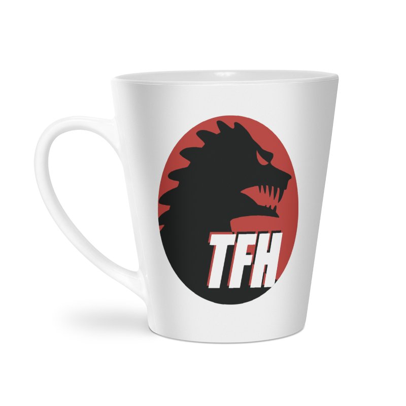 TFH BIG Logo Accessories Latte Mug by TRAILERS FROM HELL